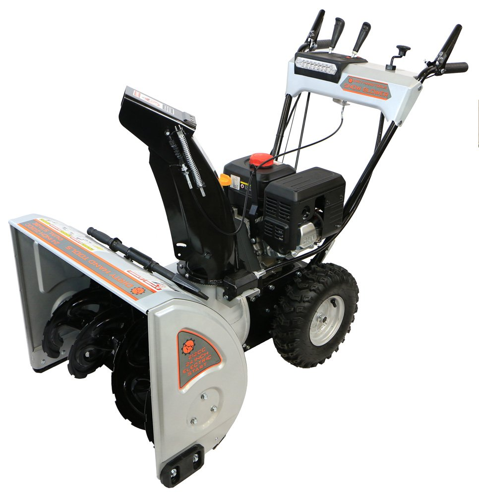 Dirty Hand Tools 106371 – Self-Propelled, Dual Stage, 212cc Loncin Engine, 24 Snow Blower
