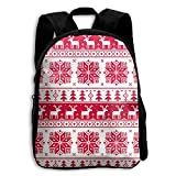 Christmas Ugly Sweater Design Kid Boys Girls Toddler Pre School Backpack Bags Lightweight