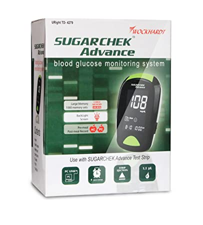 Amazon.com: Sugarchek Advance Complete Blood Glucose Testing ...