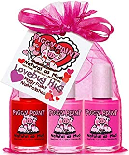 product image for Piggy Paint - 100% Non-Toxic Girls Nail Polish, Safe, Chemical Free, Low Odor for Kids - Love Bug Hug - Stocking Stuffer for Kids