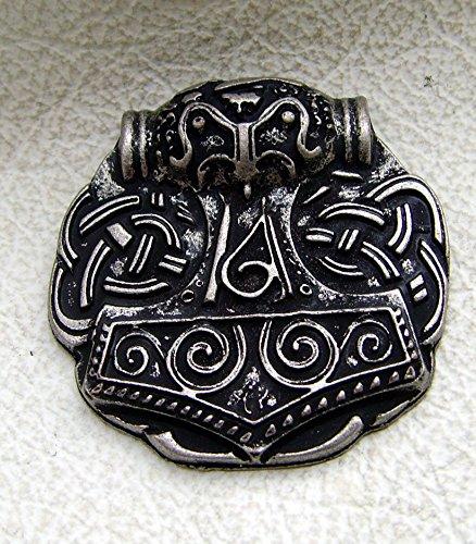 Lederbeutel Dukatenbeutel Geldkatze Farbe beige-schwarz Nordgemanischer Thors Hammer