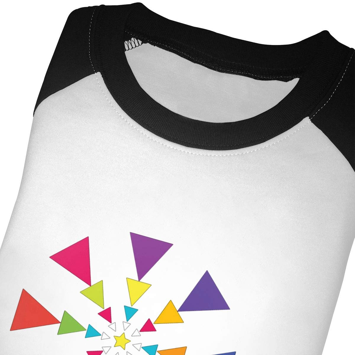 yimo Triangle Dance Unisex Toddler Baseball Jersey Contrast 3//4 Sleeves Tee