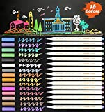 Metallic Marker Pens, 15 Assorted Color Soft Brush Tip Sheen Glitter Painting Pen Card Making, Birthday Greeting, DIY Photo Album,Scrap booking,Rock Painting,Mug,Calligraphy,Valentine's Day Cards (15)