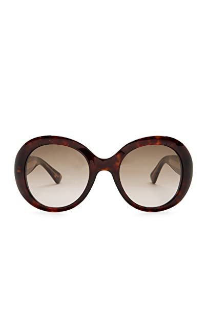 81739be612c Gucci Oversized Brown Gradient Round Sunglasses