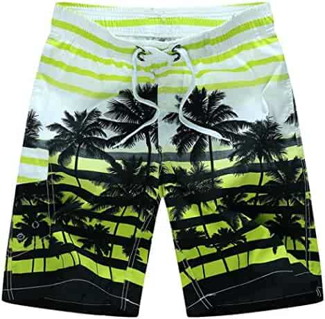 5ed36430a0e Perman Men Plus Size Shorts, Summer Beach Casual Medium Length Printing Quick  Dry Swim Trunks