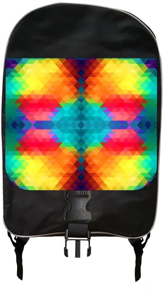 Colorful Prism Print Design Backpack and Pencil Case Set