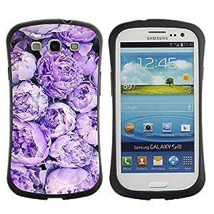 LASTONE PHONE CASE / Suave Silicona Caso Carcasa de Caucho Funda para Samsung Galaxy S3 I9300 / Roses Pattern Bouquet Spring