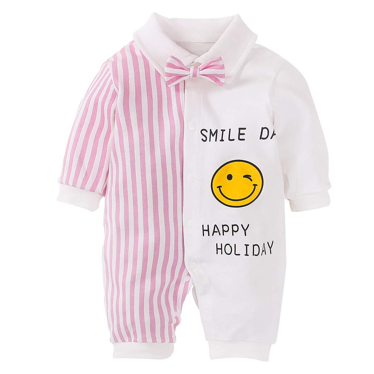 Baby Boy Girl Jumpsuit Gentleman Spring 1 Piece Set Tights Striped Cute