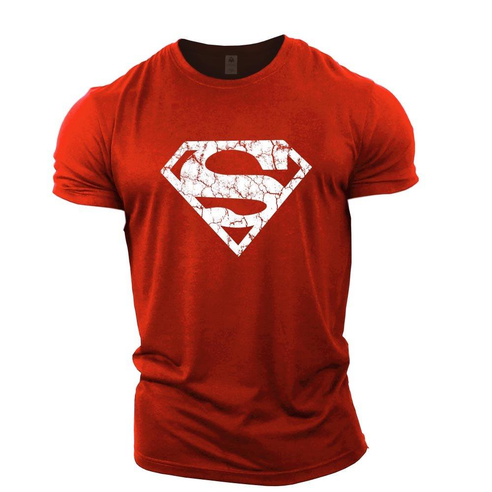 GYMTIER Mens Bodybuilding T-Shirt - Superman Vascular - Gym Training Top supermanveins