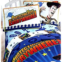 "Toy Story ""Protecting Toys Everywhere"" Twin/Full Comforter and 3 piece sheet set Bundle"