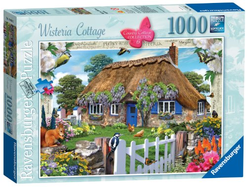 Ravensburger Country Cottage Collection No.6 - Wisteria Cottage, 1000pc Jigsaw Puzzle