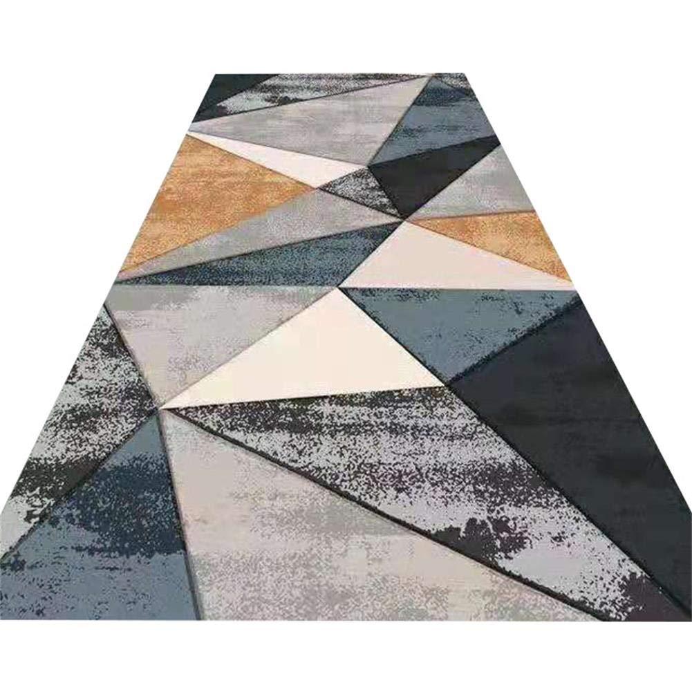 YANAN ヨーロッパ人 コリドーカーペット 単純な 幾何学 パターン ランナー敷物 廊下 バルコニー ドアマット 6mm 厚い カスタマイズ可能 (サイズ さいず : 1.8×4m) B07RYN6Z9X  1.8×4m