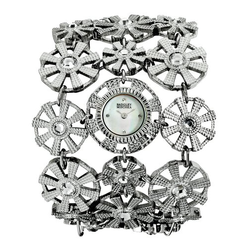 badgley-mischka-womens-ba1147mpsv-swarovski-crystal-accented-silver-tone-bracelet-watch
