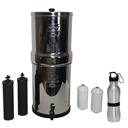 royal berkey water filter.  Berkey Royal Berkey Water Filter 3 Gallon System Bundle 2 Black BB9 Filters  Fluoride Intended I