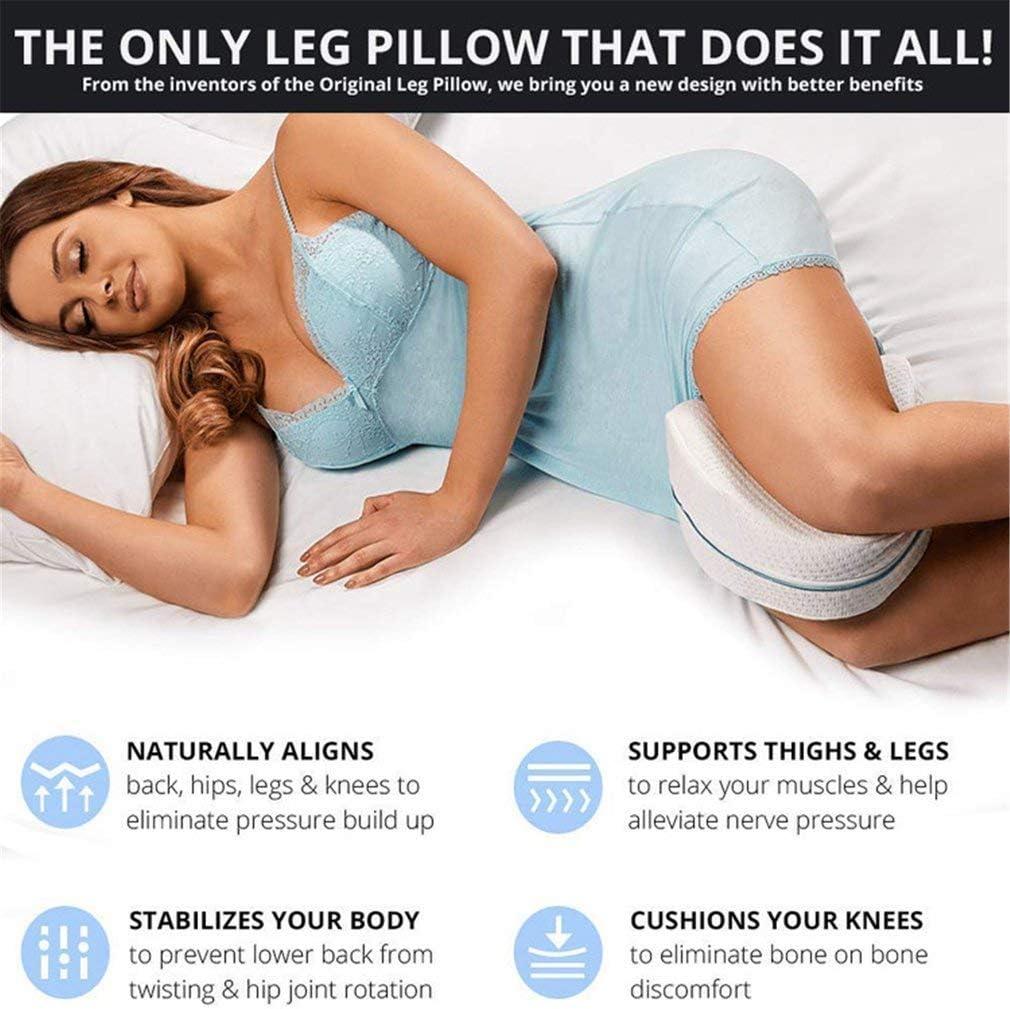 Soft Memory Foam Cushion for Legs Helps Pelvic Area Legs Hips and Spine Correct Sleep Posture PANDA100 Leg Pillow Medical Device Original As Seen on TV