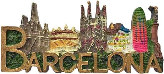 Imán para nevera Barcelona España con letras 3D, colección de ...