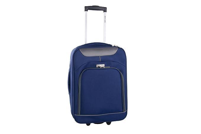 Maleta semirrígida PIERRE CARDIN azul avion mini equipaje de mano ryanair VS13: Amazon.es: Ropa y accesorios