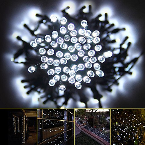 Solar String Lights, Lemontec 200 Led String Lighting Outdoor 1800mAh Solar  Patio Lights Fit Xmas Garden Wedding ...