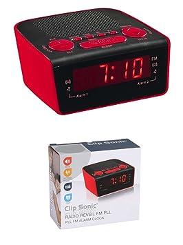 Radio reloj despertador radio con doble alarma radio ...