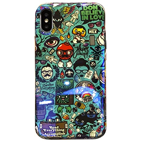 Amazon.com: iPhone Xs Case,Graffiti Hard PC Back + Soft TPU ...