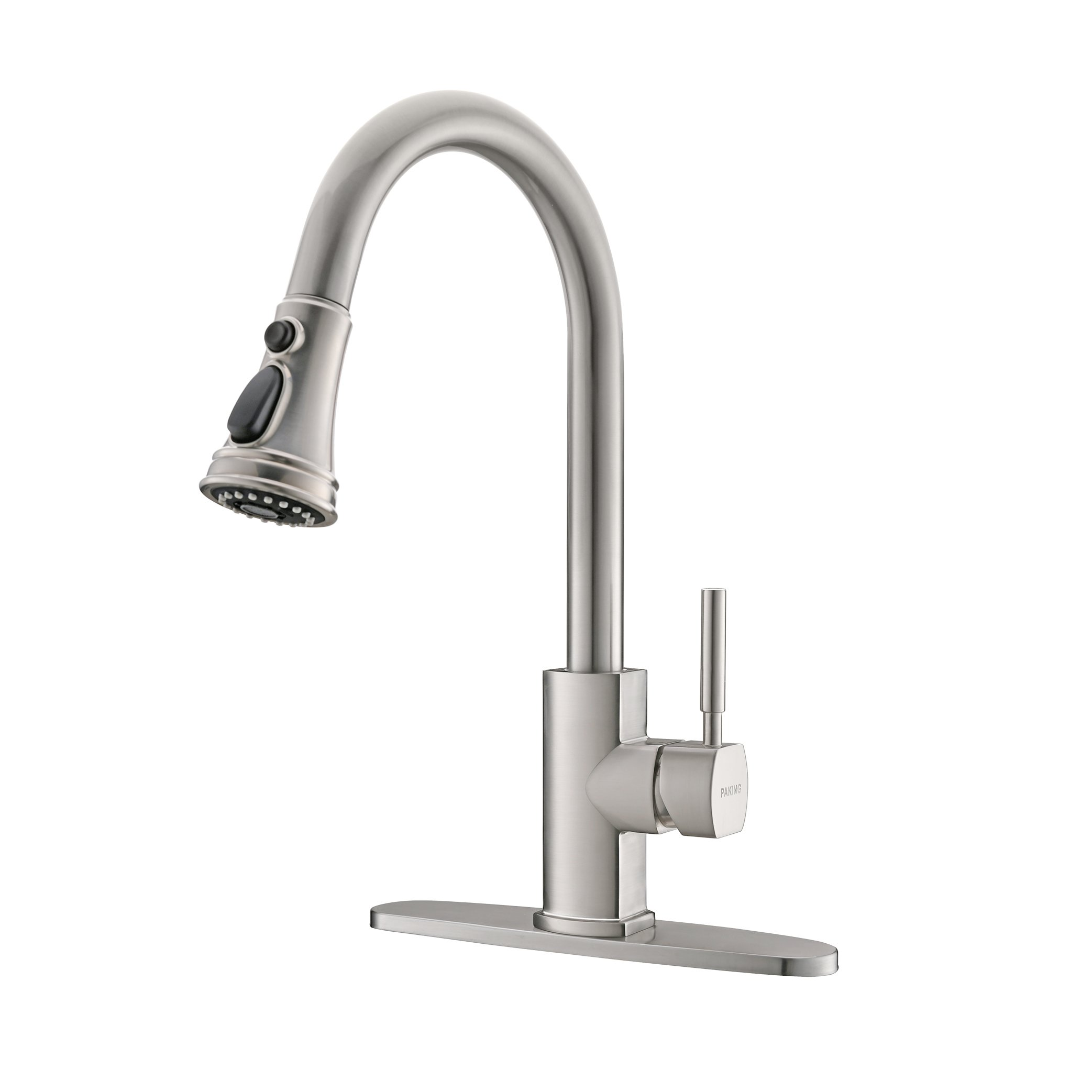 PAKING Kitchen Faucet, Kitchen Sink Faucet, Sink Faucet, Brushed Nickel Kitchen Faucets with Pull-down Sprayer, Stainless Steel Bar Kitchen Faucet, Sweep Spray