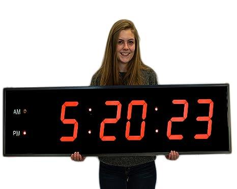 Enorme industrial almacén cafetería gimnasio reloj 8 Inch números marco de aluminio con Full Function Remote