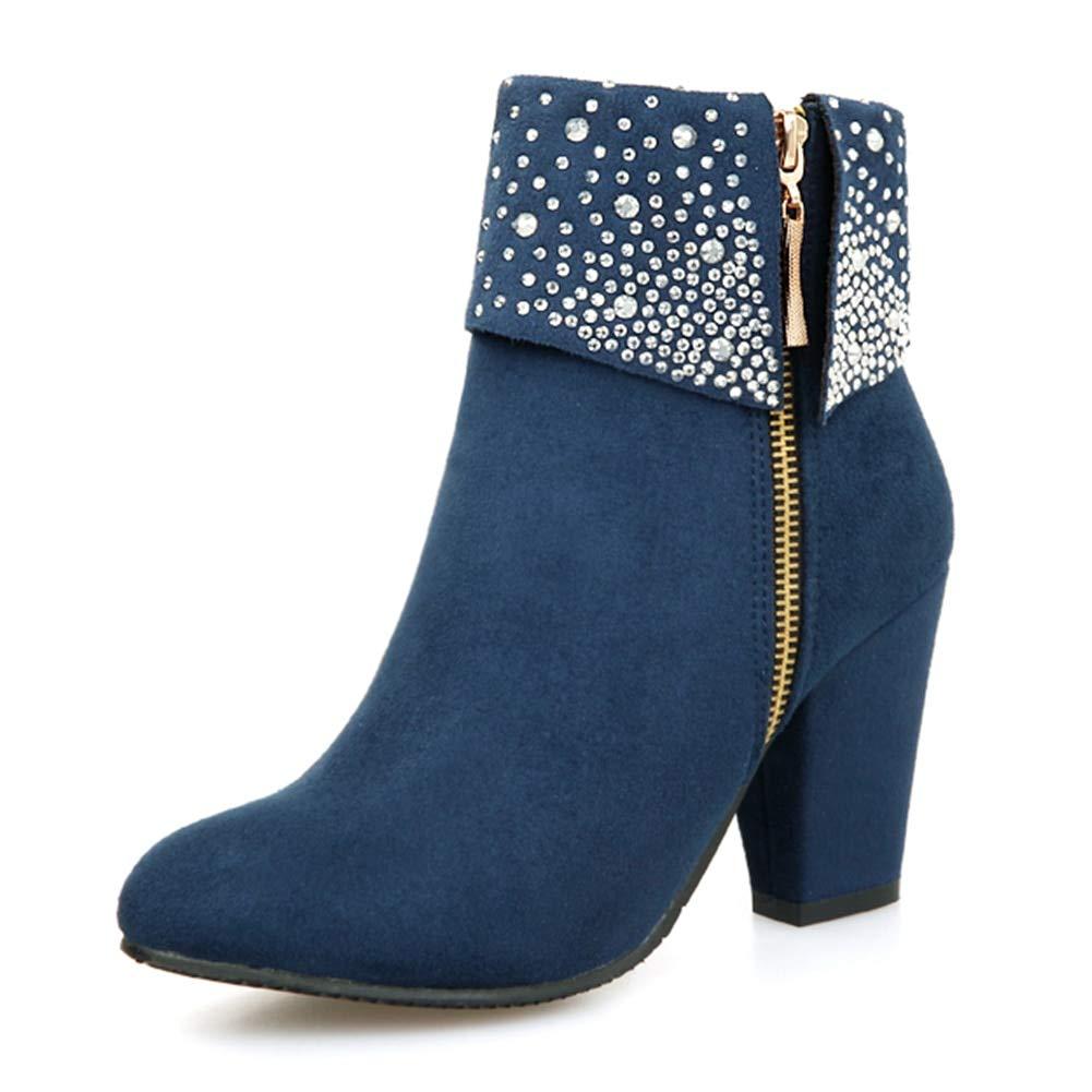 HOESCZS Dropship Winter Frauen Schuhe Frau Stiefel Plus größe 32-43 Stiefeletten crsytals high Heel Schuhe büro damenstiefel,  | Creative  | Komfort