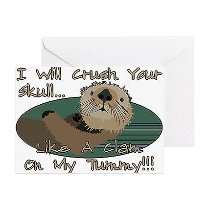 Amazon Com Cafepress Otter Skull Crush Greeting Card Note