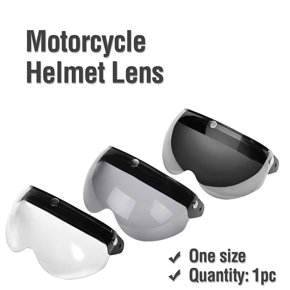 TONGXU Universale Moto Casco Lente Flip Up Half Open Face Wind Visiera Brown Black