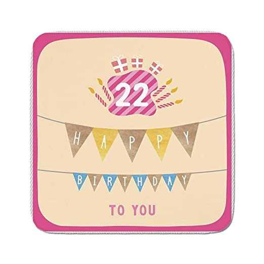 Cozy - Alfombra de Cojín para Asiento, 22 Cumpleaños, Diseño ...