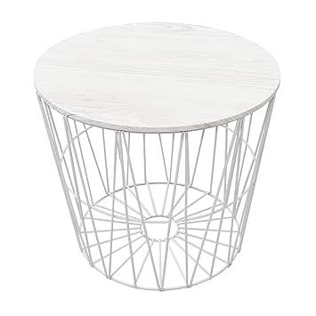 Design Drahtkorb Weiß Groß Mit Deckel Amazonde Küche Haushalt