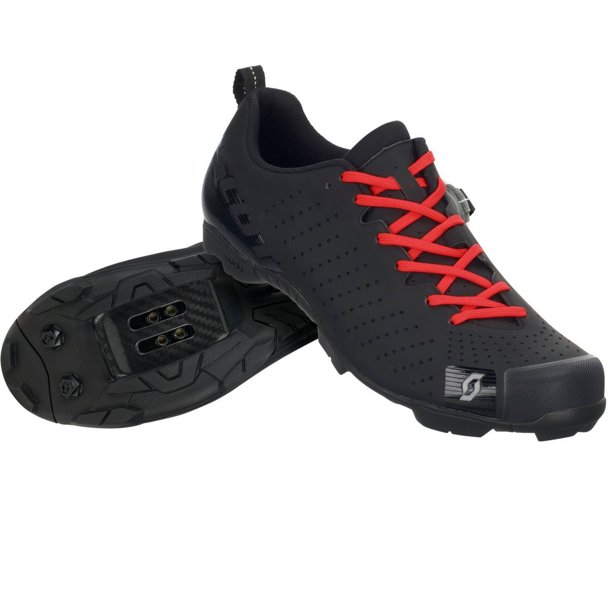 スコットMTB RC Lace Shoe – Men 'sマットブラック/グロスブラック、46.0   B01LY8F2TC