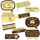 Funny Baby Teddy Bear - Baby Shower Photo Booth Props Kit - 10 Piece