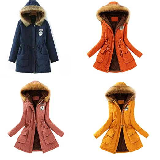 Amazon.com: DICPOLIA Womens Winter Warm Long Coat Jackets ...