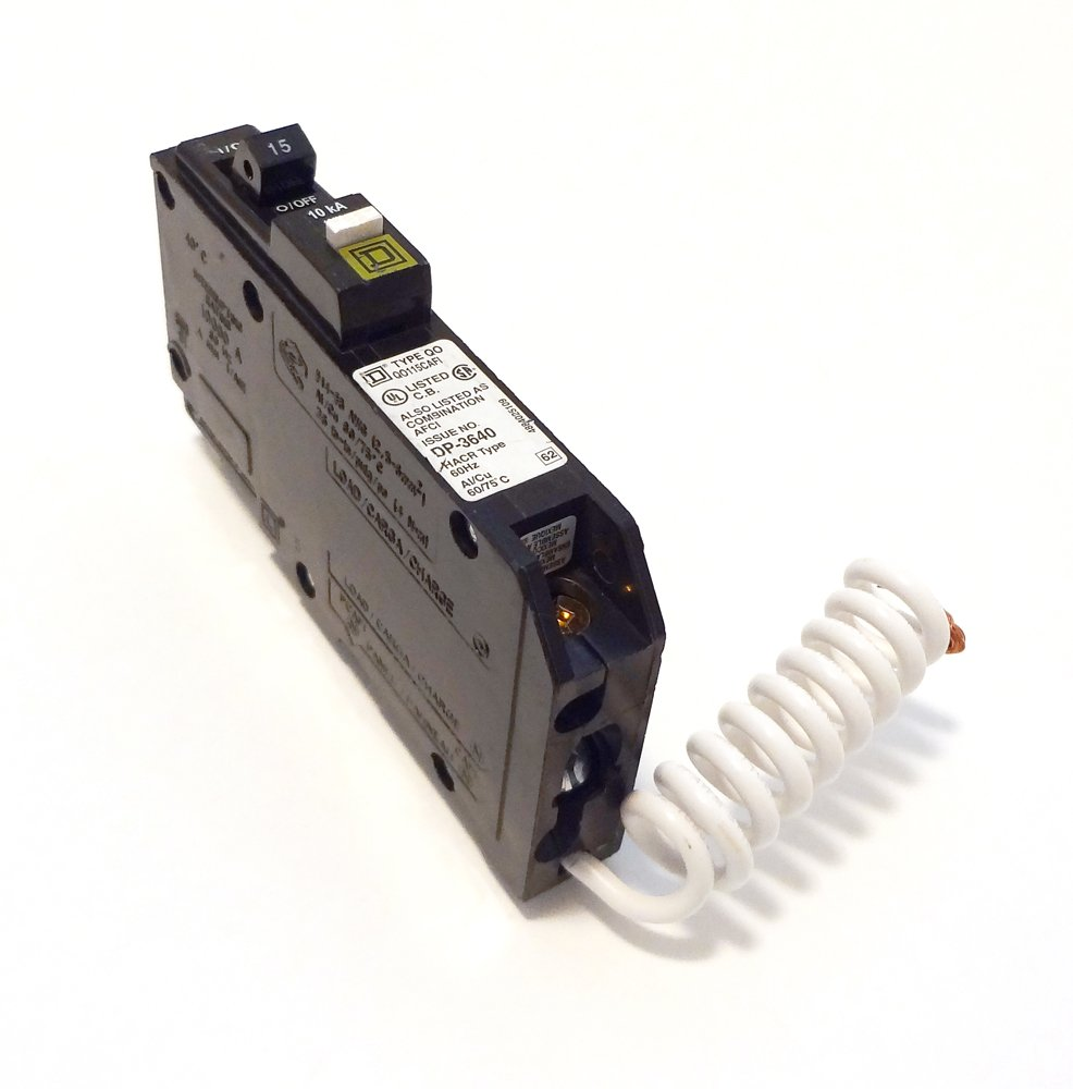 Square D by Schneider Electric QO115CAFIC QO 15-Amp Single-Pole CAFCI Circuit Breaker