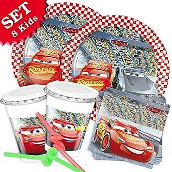 Set de decoración de cumpleaños infantil de Cars 3, con 52 ...
