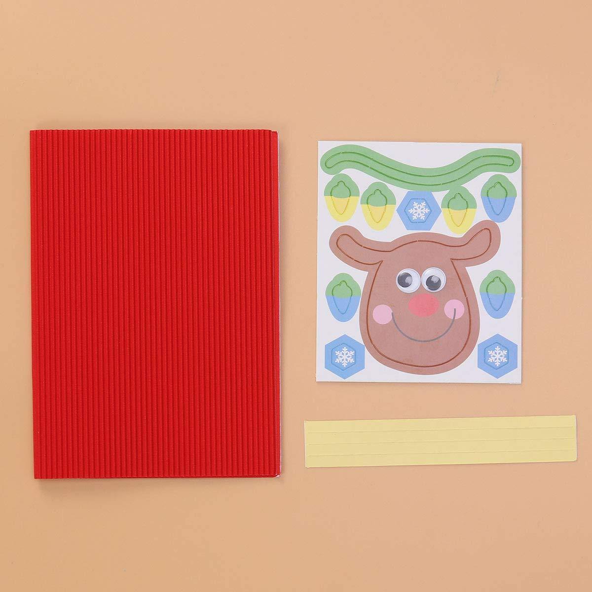 Amazon Com Bestoyard Diy Christmas Card Xmas Greeting Card