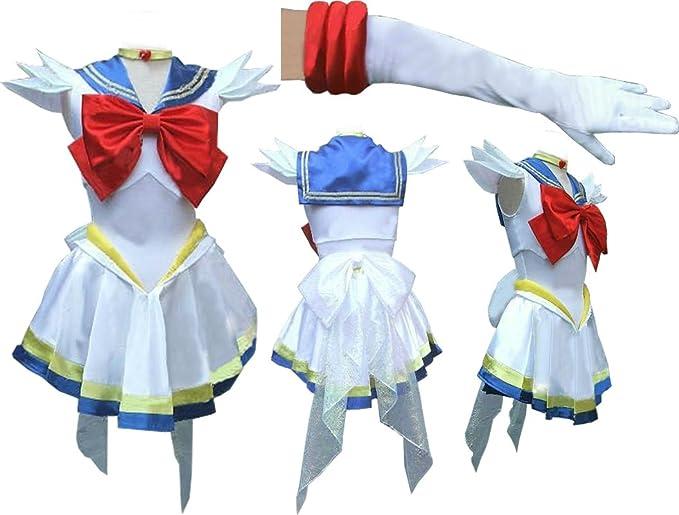 Super Sailor Moon Sailormoon blanco Serena Cosplay disfraz with ...