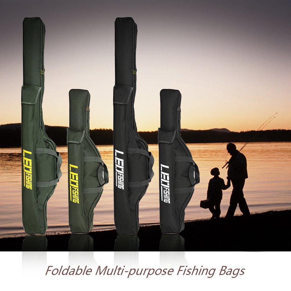 Plegables Multiusos de Pescar Bolsas con Cremallera Caso de Aparejos de Pesca 150cm Pesca Bolsas Ca/ña Lixada 100cm