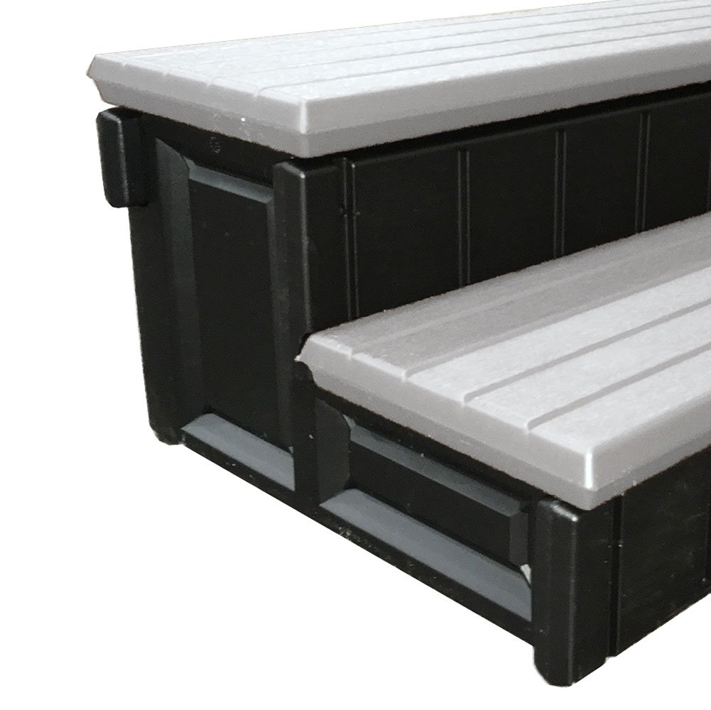 Leisure Accents Deluxe Spa Step, 36 Inches Long, Gray/ Black by Leisure Accents