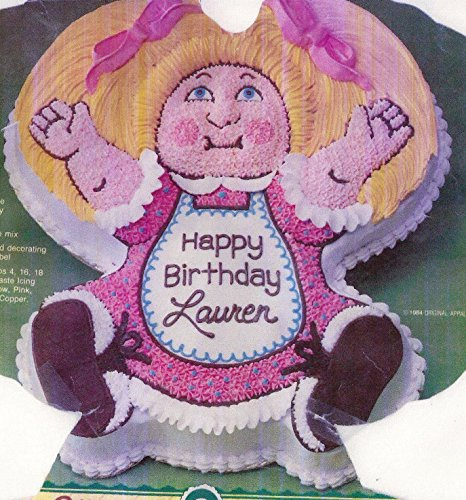 Wilton Cake Pan: Cabbage Patch Kids Baby Doll Dolly Cake Pan Mold (2105-1984, 1984) Retired (Wilton Thomas The Train Cake Pan Instructions)