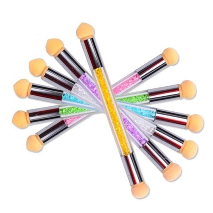 Anself Herramienta de pintura manicura uñas esponja Pen Gel UV cepillo de gradiente Dual-Ended salón uñas pintura: Amazon.es: Belleza