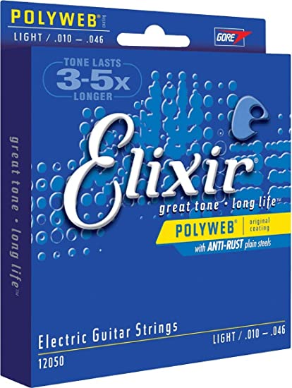 Light .010 - .046 Elixir Polyweb Electric Guitar Strings