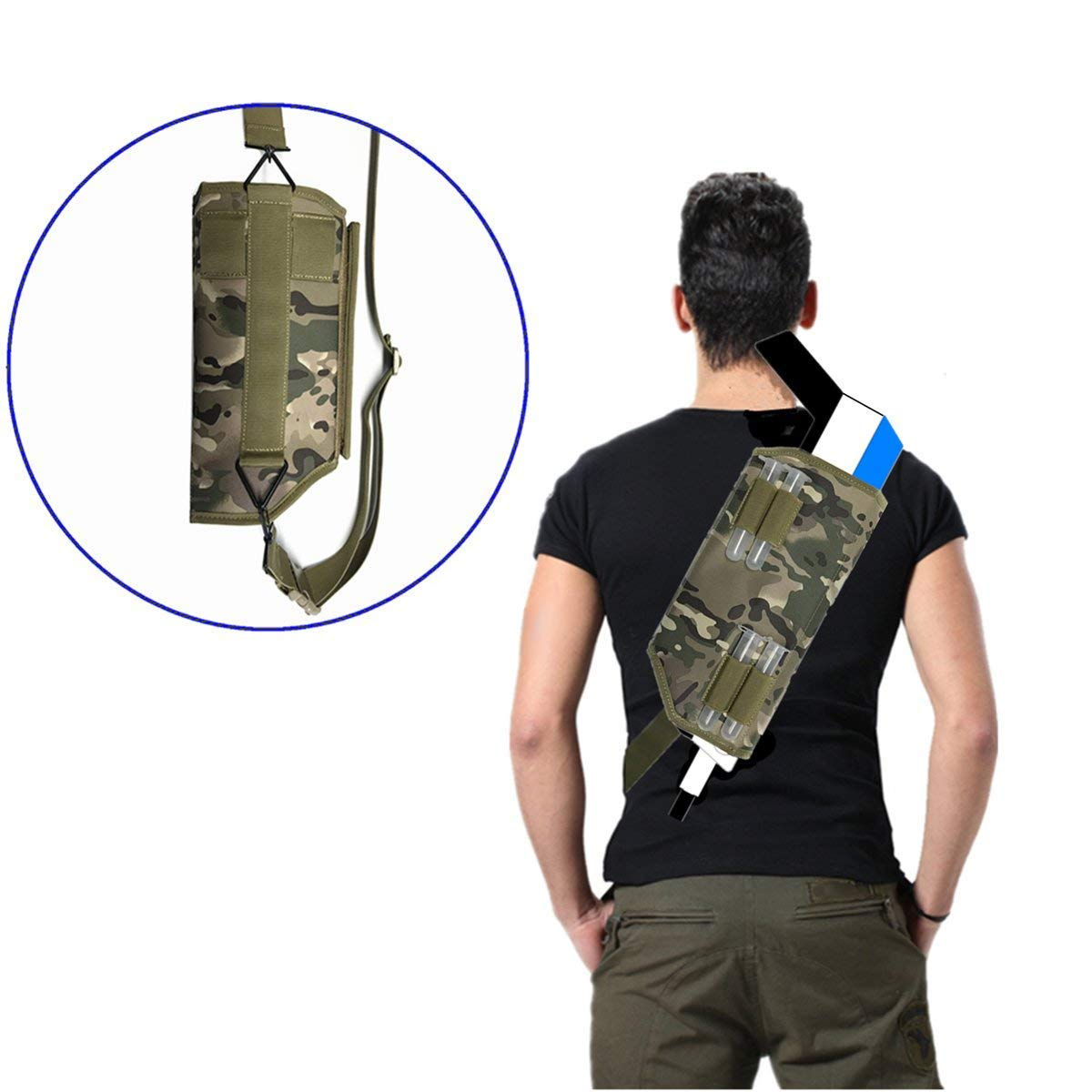 Binpure Camouflage Color Carrying Bag Crossbody Bag for Insect Eradication Bug-A-Salt Camofly Version 2.0£¬Can Be Hung On A Belt (Camouflage) EOS-SUN