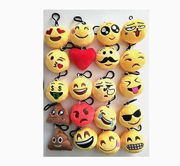 DADA llaveros Emoji para niños,Rellenos de Bolsas de Fiesta ...