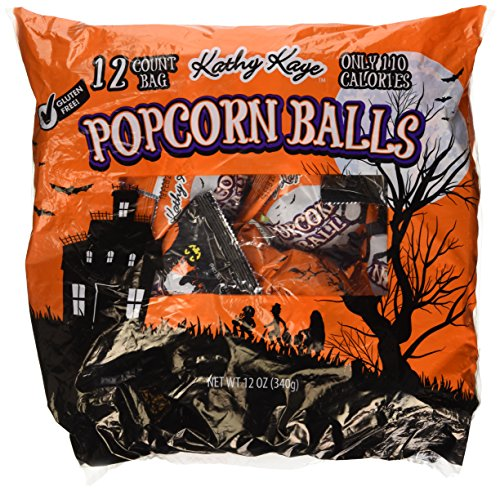Halloween Candy Popcorn Balls (12 Count Bag Popcorn Balls Sweet & Salty Halloween Treat 12 oz (Pack of)