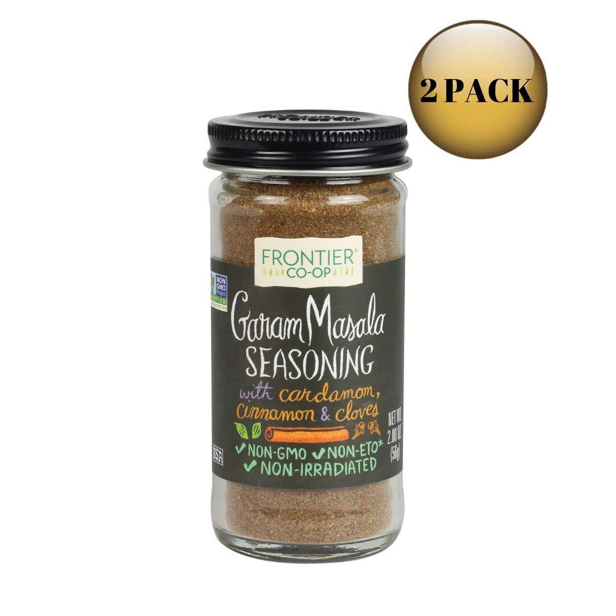 Frontier Garam Masala Certified Organic, Salt Free Blend, 2-Ounce Bottle (2 Pack)
