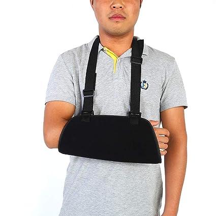 Sonew Cabestrillo con Correa Acolchada Brazo Sling Brace con Hombro Correa  Ajustable para recuperación Brazo lesionado f29f6028824e