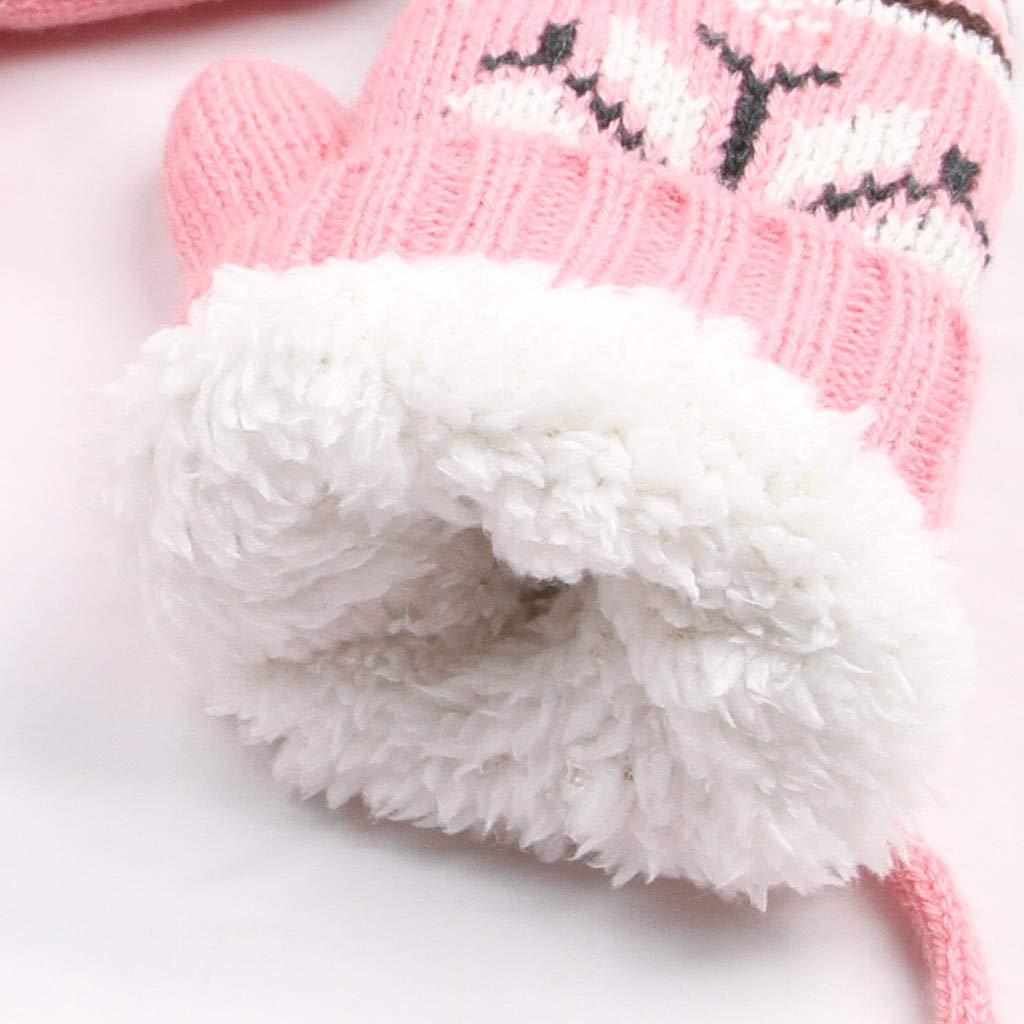 Askwho 3 Pezzi Cappello Sciarpa Guanti Set Ragazzo Ragazza Inverno Cappellino Beanie Berretto a Maglia Multifunzione Outdoor Invernale Antivento Caldo Accessori per 1-12 Anni Unisex Bambini