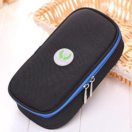Binglinghua Insulin Pen Case Pouch Cooler Travel Diabetic Pocket Cooling Protector Bag (black) by Binglinghua® (Image #1)